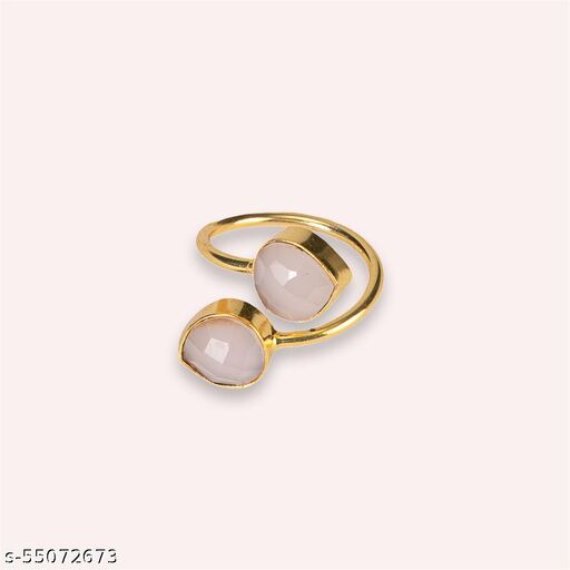 Pink Calcy Stone Ring