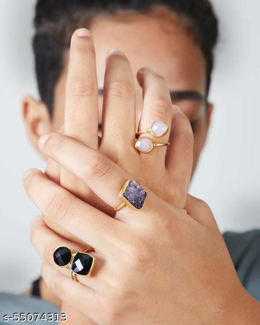 Black Onyx Studded Ring