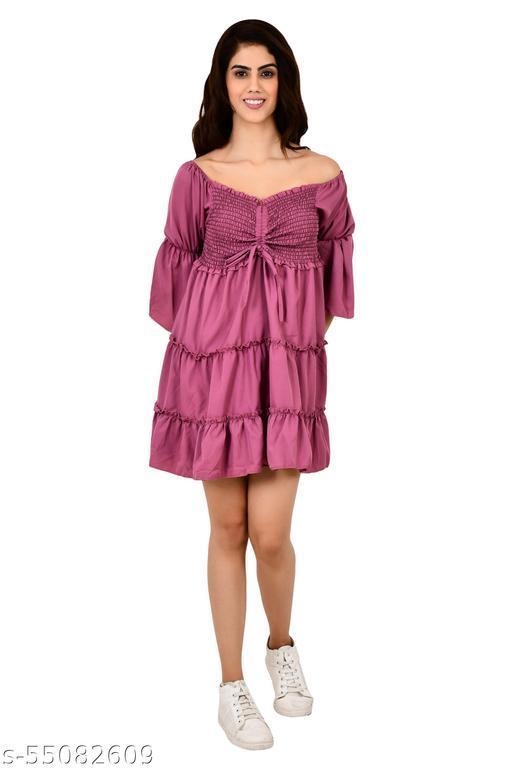 INSPIRE THE NEXT CENTRE DORI PURPLE DRESS