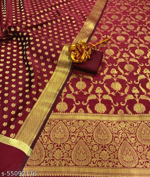 Exclusive Banarsi Jaquard Silk Suit And Dress Material