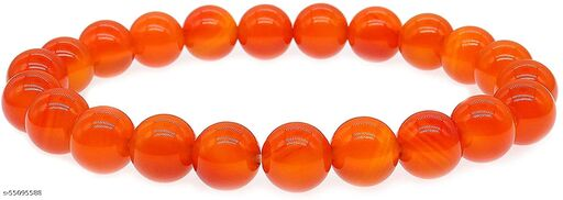 Carnelian Crystal Bracelet Natural Carnelian Gemstone Bracelet for Women Orange Carnelian Bracelet