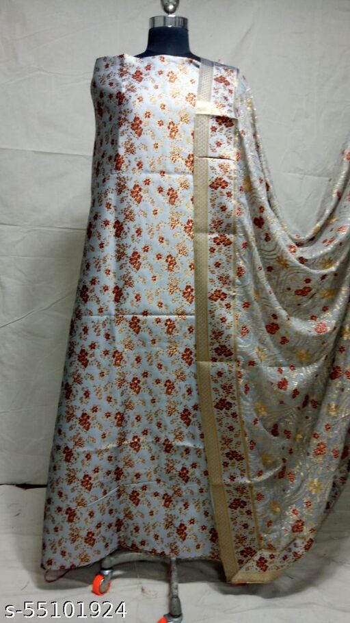 Brocade Suit With Enbriodery Dupatta