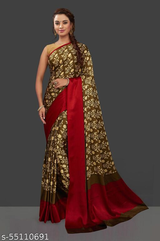 atractive rich color digital printed saree with blouse