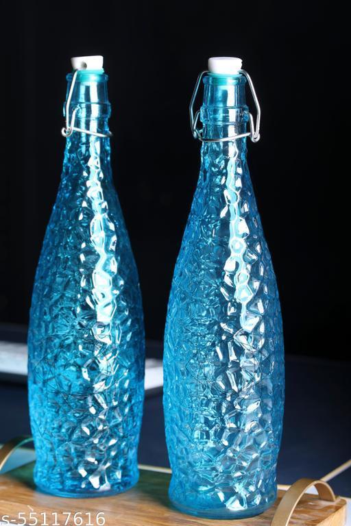 1000ml Glass Storage Bottle  Set Of 4 SKY Blue Color Clear Water Bottle