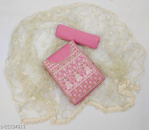 HENIL ENTERPRISE Women's Heavy cotton Fancy Un-Stitched Dress Material