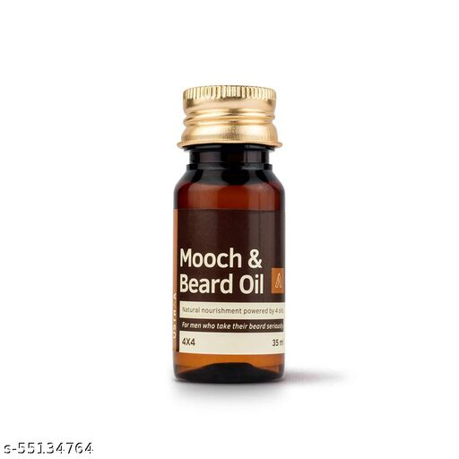 Ustraa Mooch & Beard Oil 4x4 | 35ml