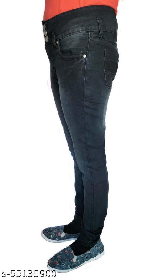 BG Women's & Girls' Regular Fit Jeans Black ( Pack of 1 )-001