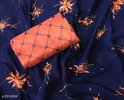 Elegant Silk Chiffon Women's Saree