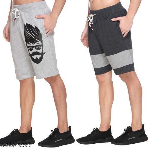 BASIS Premium Men Shorts | Original | Very Comfortable | Perfect Fit | Stylish | Good Quality | Soft Cotton Blend | Men Bermunda Half Pants | Gym | Running| Jogging | Yoga | Casual wear | Loungewear