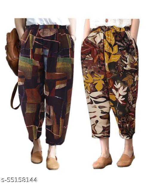 Boddh Women's Loose And Lower Fancy Western Cotton Pyajama Track Pants
