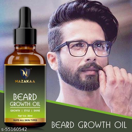 NAZAKAA Beard Growth Oil For Patchy Beard, Growth, Shine, And Hair Growth For Men-30ml