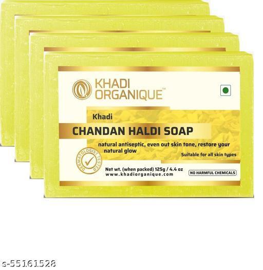 Khadi Organique Chandan Haldi Soap (Pack of 4)