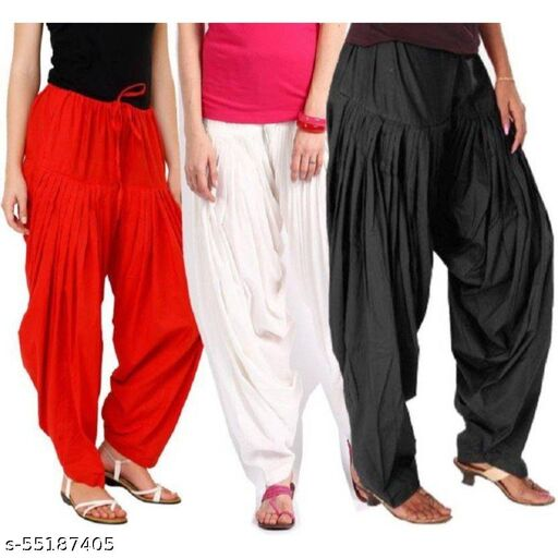 MAKE SURE Cotton Salwar for Women And Girls_Free Size_Red , White , Black