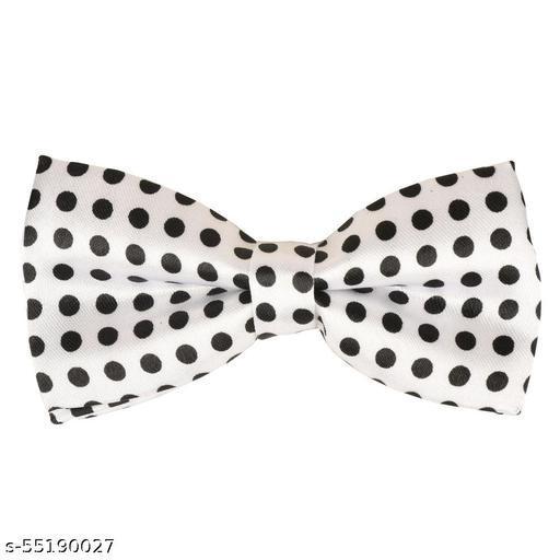 White Polka Dot  Men's Bow Tie