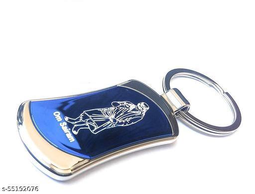 SAI GABESH ART,S Shirdi Sai Baba Stainless Steel Key Chains for Car, Home and Bike