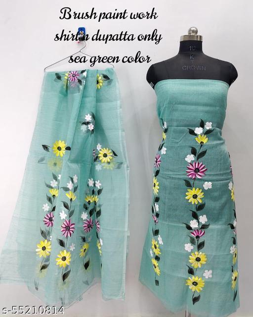 Brush paint kota doria dress material