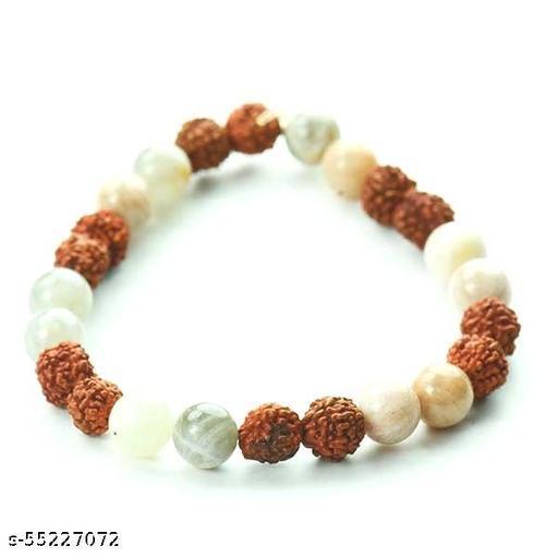 Rudraksh Moonstone Bracelet