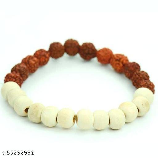Natural Tulsi & Rudraksha Bracelet