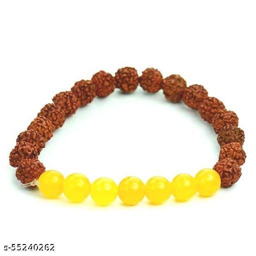 Women Rudraksh Yellow Aventurine Bracelet