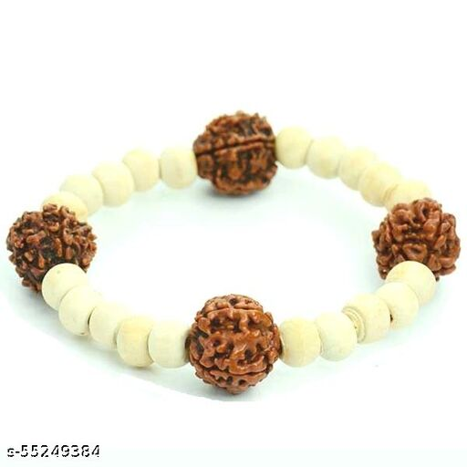 5 Mukhi Rudraksha And Tulsi Bracelet
