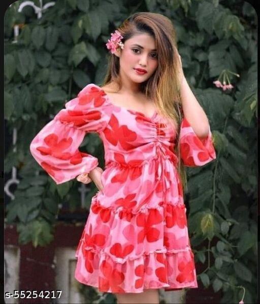 DP0 Pink Floral Dress