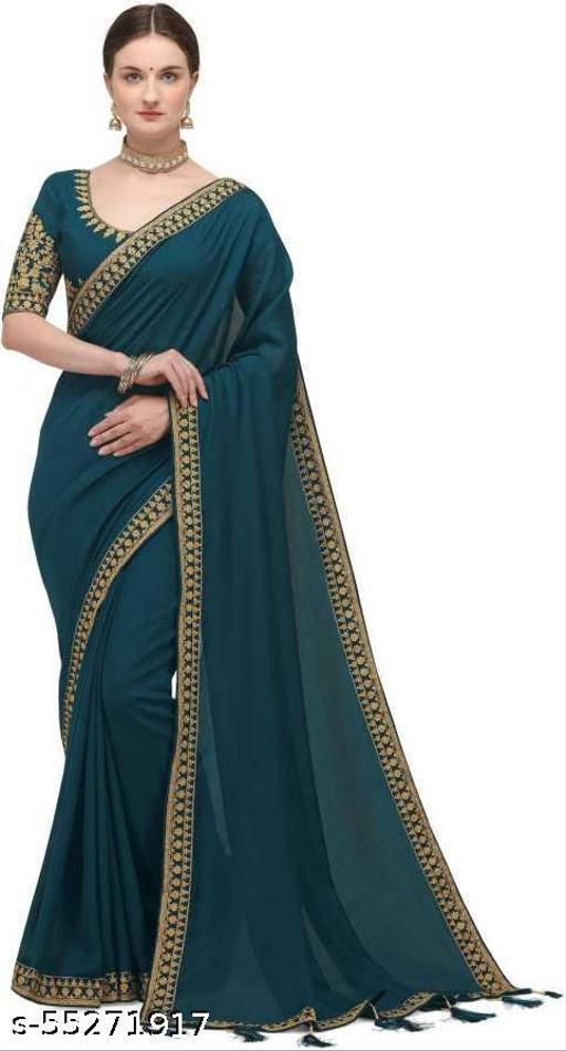 Embroidered Fashion Pure Silk Saree