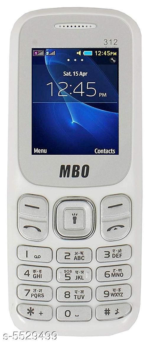 Feature Phones Basic MBO Basic Mobile Phone  *Product Type * Feature Phone  *Material * Plastic  *Display Size * 1.77 inch  *Battery Capacity * 1000 mah Lithium-ion Removable battery  *Sim Type * Dual Sim (GSM+GSM)  *Features* Dual Sim,FM Radio,  *Ram * 32 MB  *Expandable Memory* 8 GB.  *Description * It Has 1 Piece Of  Feature Phone,1 Piece Of Battery,1 Piece Of Charger  *Sizes Available* Free Size *   Catalog Rating: ★2.8 (6)  Catalog Name: Modern Trendy Stylish Plastic Featured Phones Vol 1 CatalogID_826102 C101-SC1393 Code: 498-5529499-