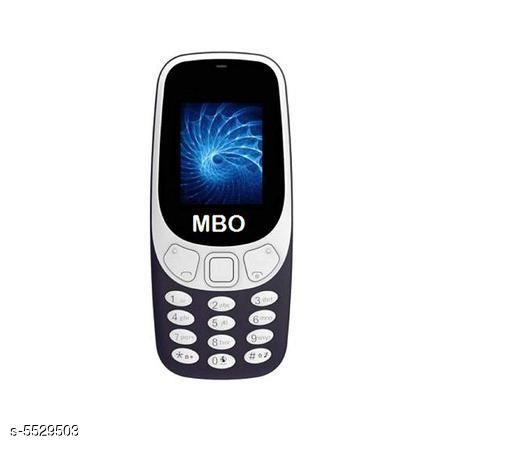 Feature Phones Basic MBO Basic Mobile Phone  *Product Type * Feature Phone  *Material * Plastic  *Display Size * 1.77 inch  *Battery Capacity * 1000 mah Lithium-ion Removable battery  *Sim Type * Dual Sim (GSM+GSM)  *Features* Dual Sim,FM Radio,  *Ram * 32 MB  *Expandable Memory* 8 GB.  *Description * It Has 1 Piece Of  Feature Phone,1 Piece Of Battery,1 Piece Of Charger  *Sizes Available* Free Size *   Catalog Rating: ★2.8 (6)  Catalog Name: Modern Trendy Stylish Plastic Featured Phones Vol 1 CatalogID_826102 C101-SC1393 Code: 498-5529503-