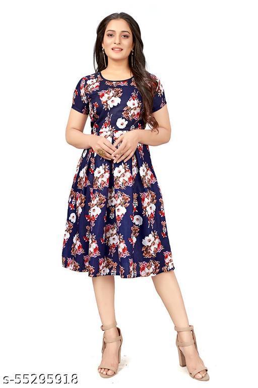 SRTextile Women's Fit And Flare Westren Cotton Fancy Dress
