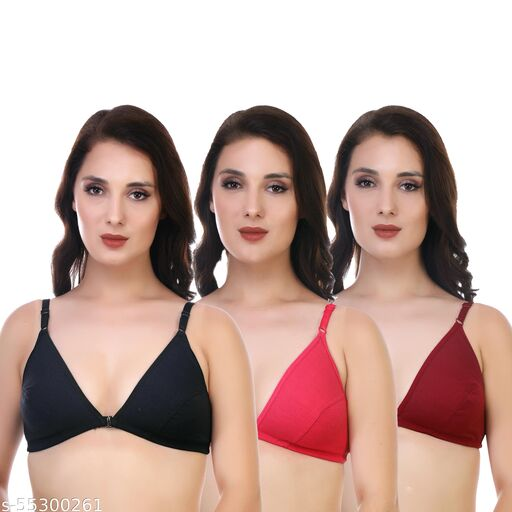 Front Open Non Padded Bra