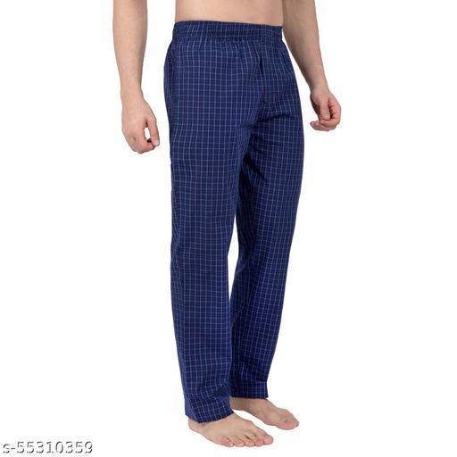 Men's 100% Cotton Lounge Pant - Checks ( Pack of 1 )-02