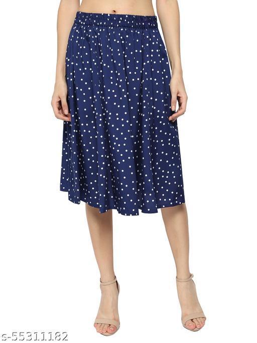 Skookum Polka Blue Skirt