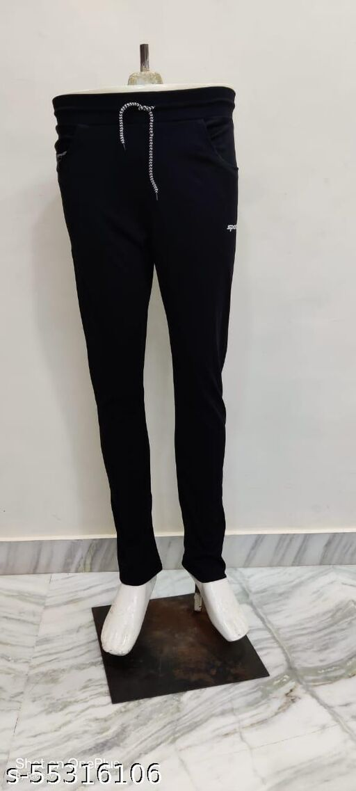 Studio-9 Men's  Track Pants-Black