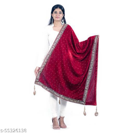 Velvet Sada Saubhagyavati Bridal Dupatta
