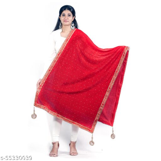 Velvet Bridal Dupatta Sada Saubhagyawati Border
