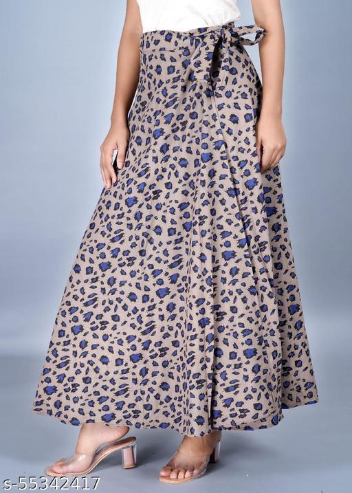 Wrap-tiger-print Skirts