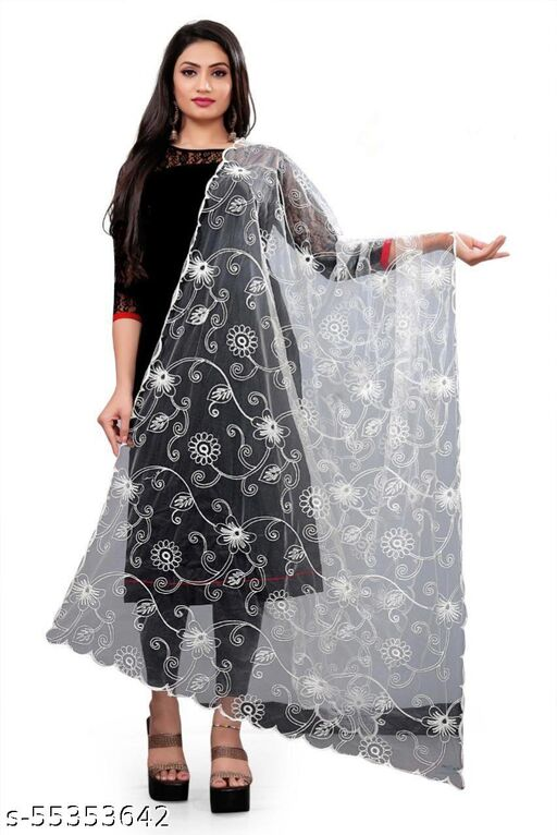 Stylish Net Women and Girl Trending Fancy Dupatta