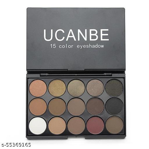 Women Girls 15 Colors Nude Fashion Matt Makeup Shimmer Pearl Eyeshadow Palette Cosmetics Tools