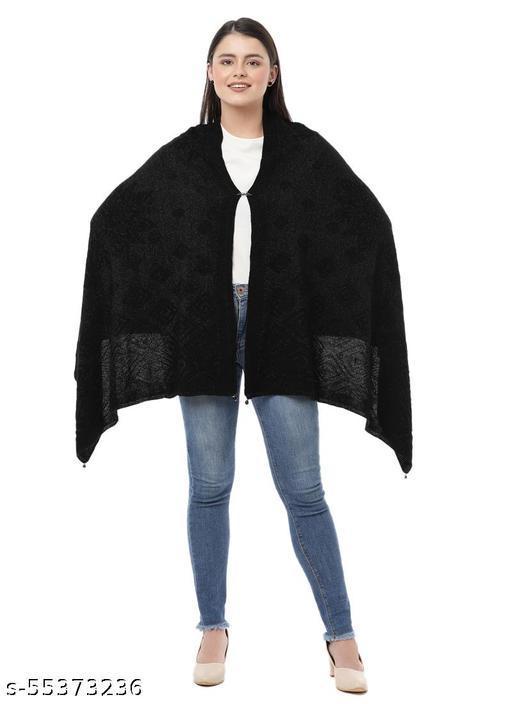 Lady Look Women's Designer Party wear Knit Shawls / Winter  Shawls .