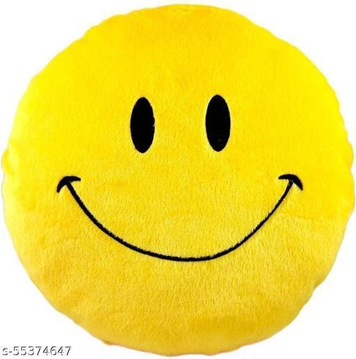 WILCART kIds Microfiber Smile face Emoji Emoji Cushions Pillows Pack of 1