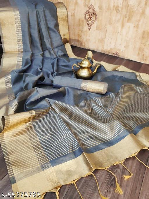 KB Soft Banglori Raw Silk weaving saree with zari woven border and pallu with running blouse piece
