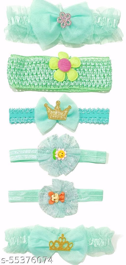 fancy orange headband Soft headband new born baby girls kids hairband headbands elastic hair accessories set 6 pcs with gift box
