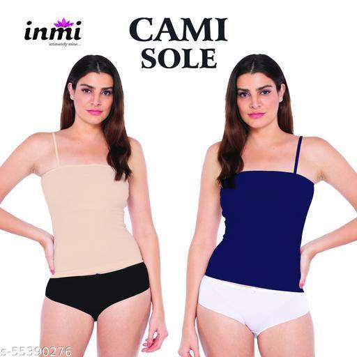 Girls Cotton Lycra Camisoles Skin & Navy Blue camisole Girls camisole cotton Women's Cotton Spaghetti Top zivame camisole jockey camisole Inmi