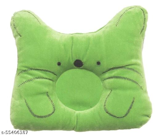 Caring Mom  Baby Soft Neck Support Pillow for Head Shaping(New Born 0-9 Months Age Group) Green (Pack of 1)