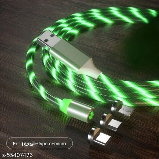 Light USB Cable Led Data Cables Super Fast Charging and Strong Magnet Fast 3 in 1 Multiple Pin With LED Light Magnetic Charging Cable