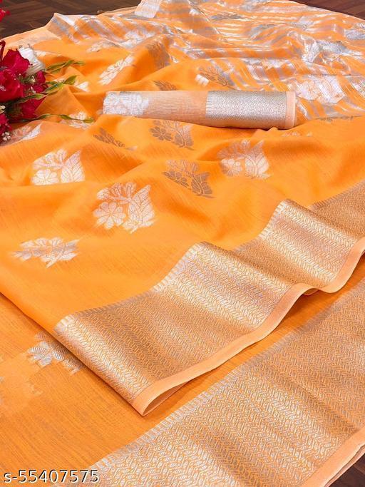 Kimpax linen silk weaving saree
