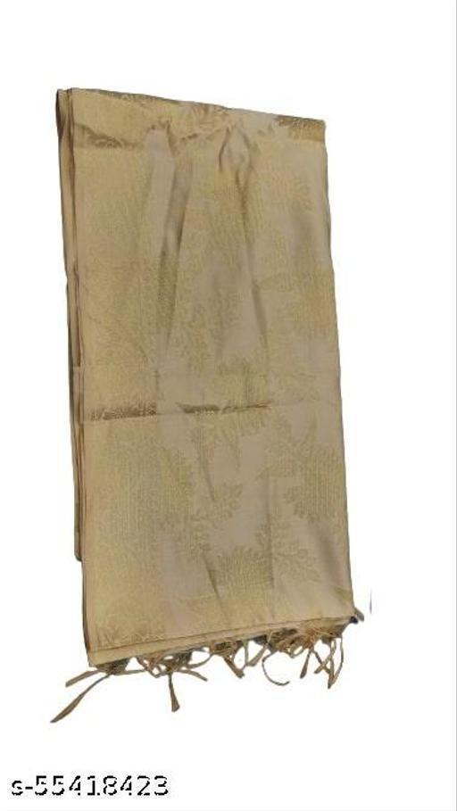 Maurya's Women's Kora Silk Banarasi Dupatta/Chunni (Golden)