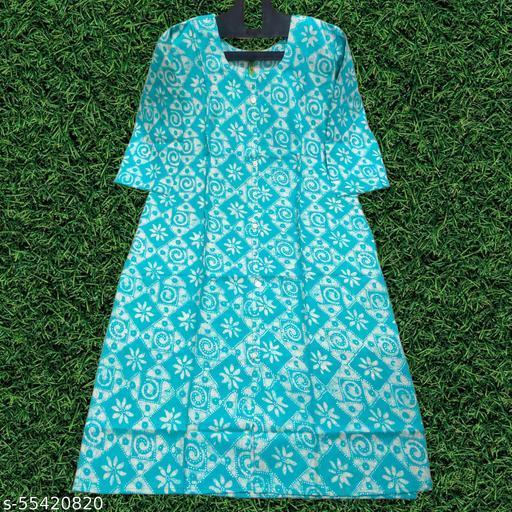 Fashionable Cotton Rayon Kurti