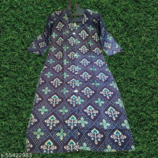 Fashionable Cotton Bandhani Kurti