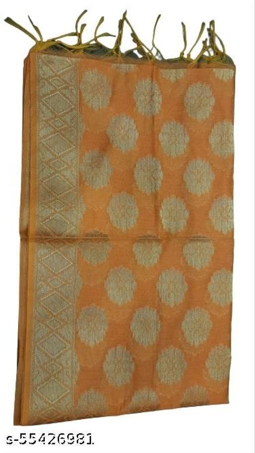 Maurya's Women's Kora Silk Banarasi Dupatta/Chunni (Mustard)